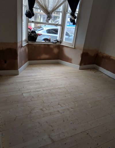 Replacing rotten floor and damp proofing in North London image7