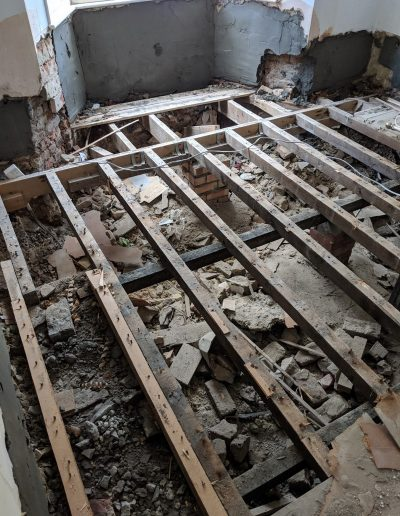 Replacing rotten floor and damp proofing in North London image8